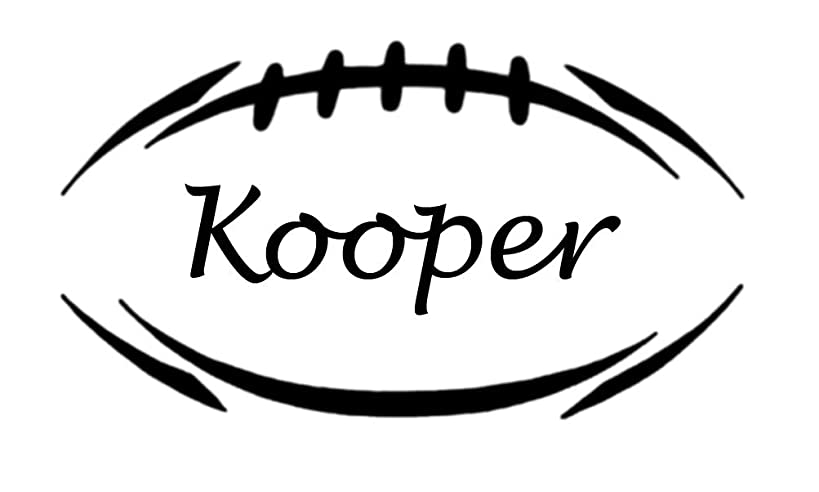 ValueVinylArt Personalized Football Wall Decal- Black 34x19