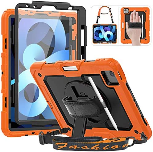 HXCASEAC iPad Air 4 Case 10 9 iPad Pro 11 2020 2018 Case Rugged Tough Case with Pencil Holder product image