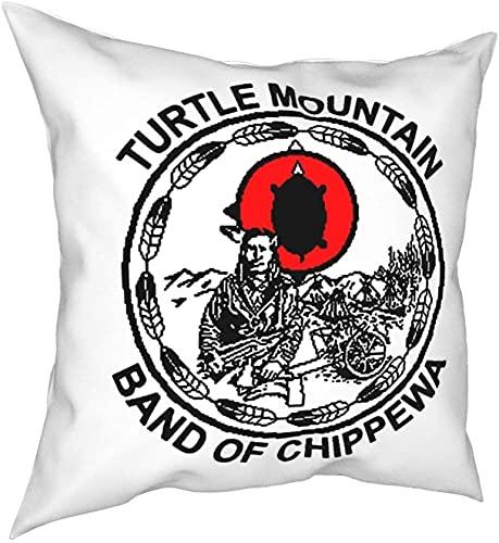 Funda de almohada cuadrada con banda de Chippewa de la tortuga de la montaña de la moda de la funda de almohada de 45 x 45 cm