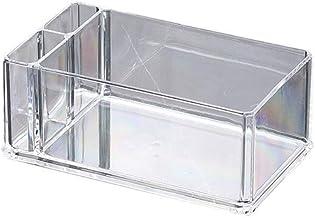 Yllang SERVETHOUDER Tissue Box Doorzichtig acryl Cocktail Paper servet Dispenser Bar Caddy Rietjes Organizer (Color : Whit...