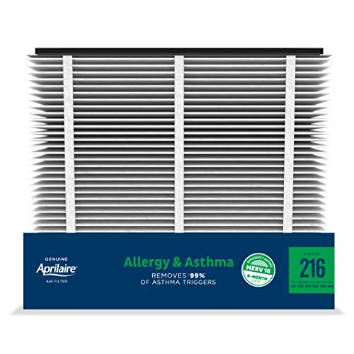 Aprilaire - 216 A2 216 Replacement Air Filter for Whole Home Air Purifiers, Allergy, Asthma, & Virus Filter, MERV 16, (Pack of 2)