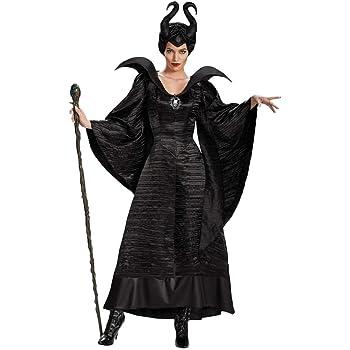 Xyfw Maléfica Vestido De Cosplay De Agarre Traje De Bruja Negra ...
