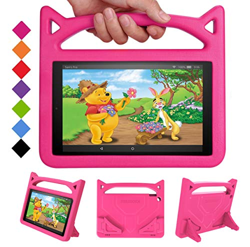 New Fire HD 10 Tablet Case 2019/2017 - SHREBORN Light Weight Shock Proof with Stand Kid Proof Cover Kids Case for All New Amazon Fire HD 10 Tablet(10.1',9th/7th/5th Generation, 2019/2017/2015 Release)