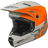 FLY Racing Kinetic Straight Edge Helmet, Full-Face Helmet for Motocross, Off-Road, ATV, UTV, Bicycle and More Matte Orange/Grey, SM