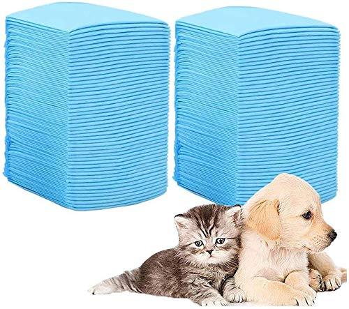 ALTERDJ 100 Stück Puppy Pads welpenunterlage Hygieneunterlagen für Haustiere Welpen Trainingsunterlagen Trainingsunterlagen für Welpen welpentoilette Hunde welpen unterlage (60x45cm)
