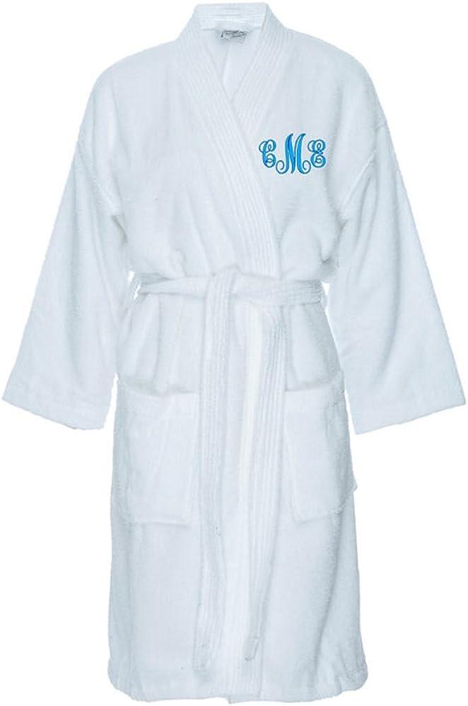 Classy Raleigh Mall Bride Monogrammed Terry Cloth Max 79% OFF Kimono - White Robe