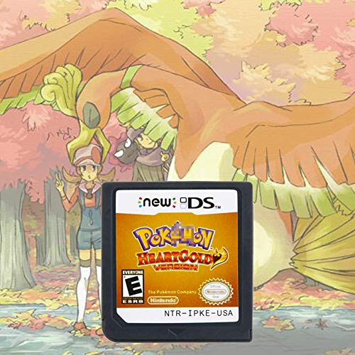 Pokemon HeartGold Game Card Cartridge Compatible with Nintendo DS/NDS/NDSL/NDSi/3DS/2DS (Reproduction Version)