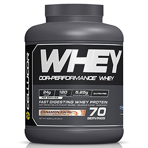 Cellucor COR-Performance Protein Isolate Powder Cinnamon Swirl 5lb.   100% Gluten Free + Low Fat Post Workout Muscle Growth Drink for Men & Women   70 Servings
