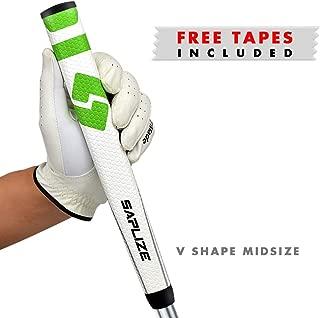 SAPLIZE PP04 Golf Putter Grip, Ergonomic Shape, Lightweight, Non-Slip Pattern, MidSize 2019 New Golf Grips Kit