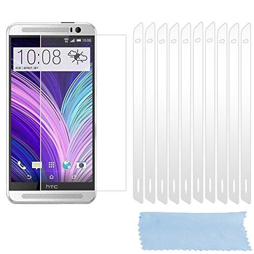 Cadorabo Bildschirmschutzfolien für HTC ONE M8 (2.Gen.) - Schutzfolien in HIGH Clear - 10 Stück hochdurchsichtiger Schutzfolien gegen Staub, Dreck & Kratzer