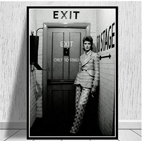 keine Marke Pósters David Bowie Rock banda de música cantante estrella póster arte pared cuadro lienzo pintura para decoración de habitación hogar 40 x 60 cm sin marco