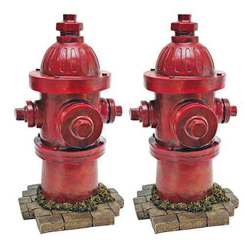 Design Toscano 'Dog's Best Friend' Fire Hydrant Statue, Set of Two