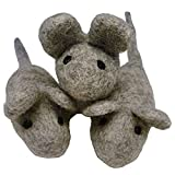 Earthtone Solutions Felt Cat Toys - 3 Wool Mouse Toys for Indoor Cats and Kittens - Color May Vary - Large Handmade Mice