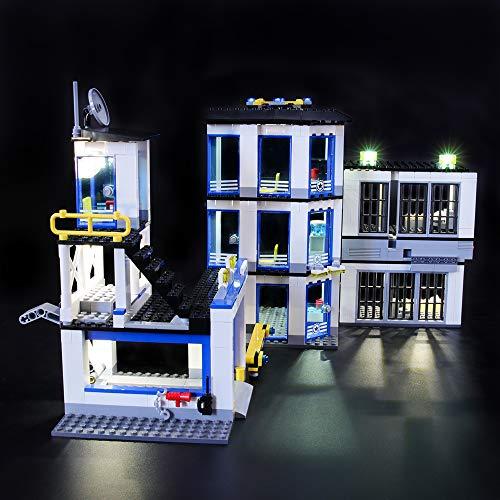 LIGHTAILING Conjunto de Luces (City Comisaría de Policía) Modelo de Construcción de Bloques - Kit de luz LED Compatible con Lego 60141 (NO Incluido en el Modelo)