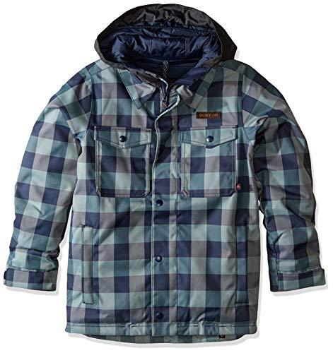 Burton Kids' Uproar Jacket, Mood Indigo Buffalo, Large