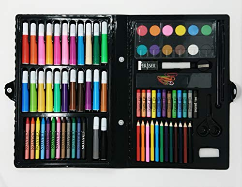 Glow Premium 90 Piece Art Set – Complete Drawing Painting Colouring Kit -...
