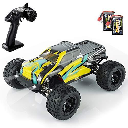 BEZGAR Rc Auto, 1:16 Großer Geländewagen Rc Offroad Schneller Rennwagen, Ferngesteuertes Auto 4x4 Wasserdichtes Elektrisches Hochgeschwindigkeits-Monster-Spielzeugauto mit Wiederaufladbaren Batterien