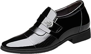 Zfl-flsnxx Men's Sandals, أوكسفورد للرجال رجال الأعمال المتسكعون اللباس أحذية الانزلاق على أشار تو براءات الاختراع الجلود ...