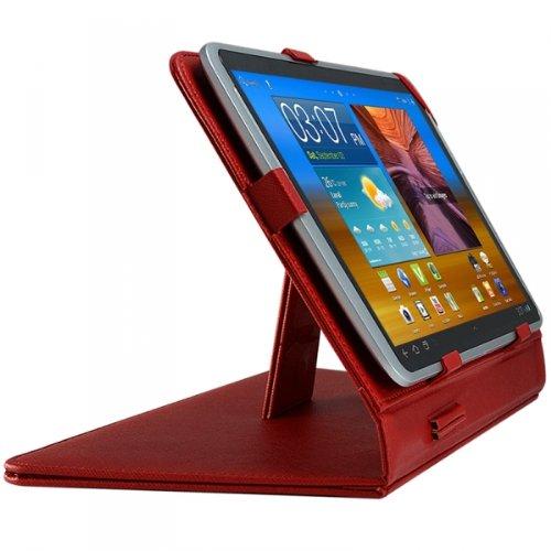 Seluxion-Funda tipo libro universal para tableta Yarvik Xenta Tablet rosa () 7 ', color rojo