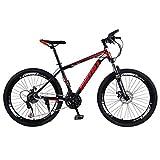 Bike 26 Pollici Mountain 21 velocità, Cruiser Bicycle Beach Ride Travel Sport, Doppio Freno a Disco, per...