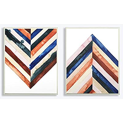 Stupell Industries Watercolor Abstract Layered Shapes Canvas Wall Art