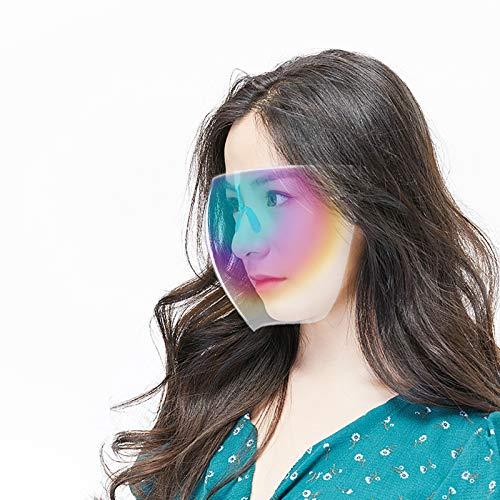 Gafas degradadas para cubrir la cara completa, gafas transparentes con protección facial y protección antivaho, ligeras, transparentes HD, para mujeres y hombres