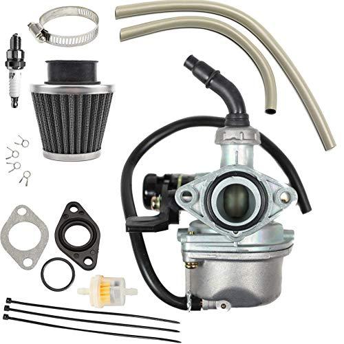 PZ19 Carburetor Carb Hand Choke Cable with 35mm Air Filter Fuel Filter for 50cc 70cc 90cc 110cc 125cc ATV Dirt Pit Bike Go Kart Chinese 4 Wheeler Taotao Honda CRF