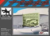ブラックドッグ A48058 1/48 ウエストランド メリン HC 3 エンジン セット N°1 (エアフィックス用)