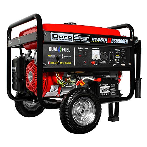 Durostar DS5500EH Dual Fuel Electric Start Portable Generator