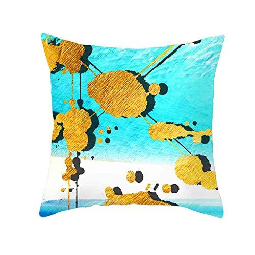 Goldfolie Druck Kissenbezug, Kissenbezüge für Sofa Car Home Decor 45 x 45cm By Vovotrade