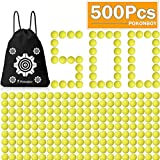 POKONBOY Upgraded 500-Round Balls Refill Pack Compatible with Nerf Rival Apollo, Zeus, Atlas and Artemis Blasters (Storage Bag Included)