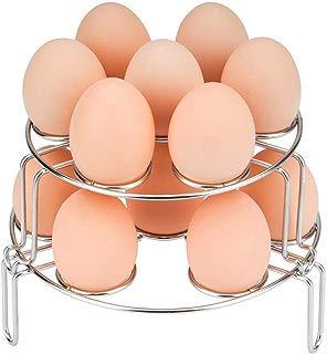 WaterLuu Egg Steamer Rack Stackable Egg Rack for Instant Pot Accessories - Fits for Instant Pot 5,6,8 qt Pressure Cooker - (2 pack)