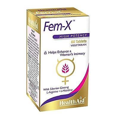 HealthAid Fem-X - L-Arginine, Siberian Ginseng - 60 Tablets