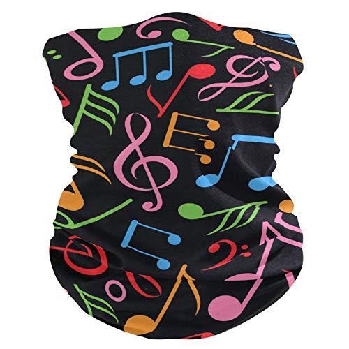 RELEESSS - Máscara de notas musicales coloridas, lavable, para la cabeza, corbatas para el pelo, bufanda, diadema, multiusos, para hombres y mujeres, unisex