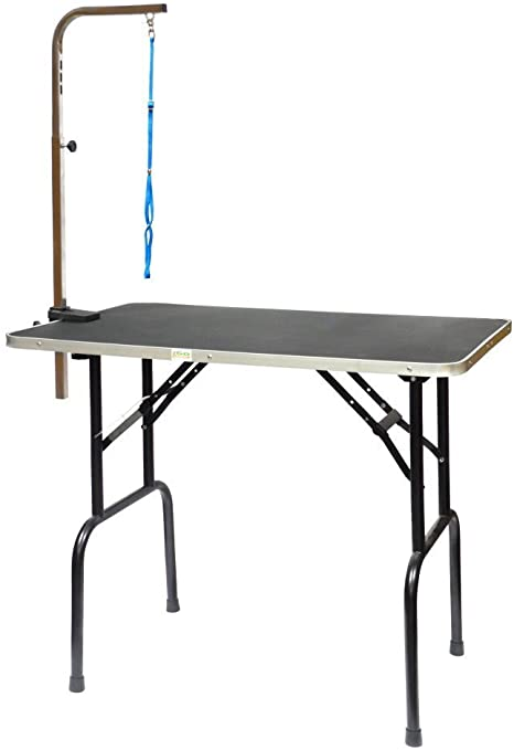 Go Pet Club Pet Dog Grooming Table with Arm 30-Inch