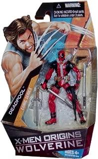 X-Men Origins Wolverine Comic Series 4 Inch Tall Action Figure - DEADPOOL with 2 Katana Swords, Sai, Pistol and Assault Rifle