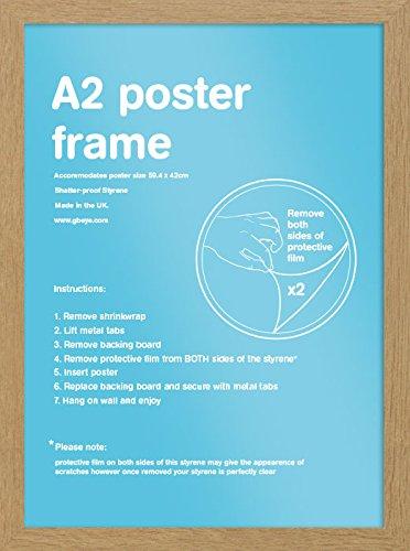 Fotolijst A2 eiken - hout - 42 x 59,4 cm | PostersDE