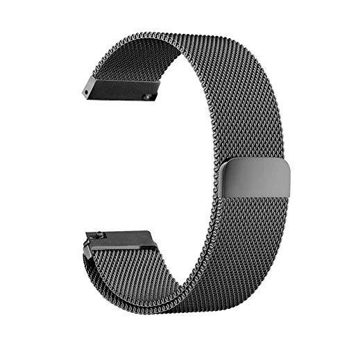 YFC Correa de Reloj de 20 mm, Correa de Bloqueo magnética de liberación rápida de reemplazo de Acero Inoxidable de Bucle Ajustable para Samsung Gear S2 Classic,Huawei Watch 2 Sports