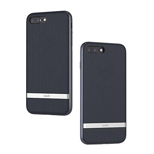 Moshi Vesta Funda para teléfono móvil 14 cm (5.5') Funda Blanda Azul - Fundas para teléfonos móviles (Funda Blanda, Apple, iPhone 8 Plus iPhone 7 Plus, 14 cm (5.5'), Azul)