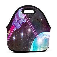 Planet Cat Laser 保温再利用可能おポータブル弁当箱ランチトートバッグ食事袋子供大人ユニセックス