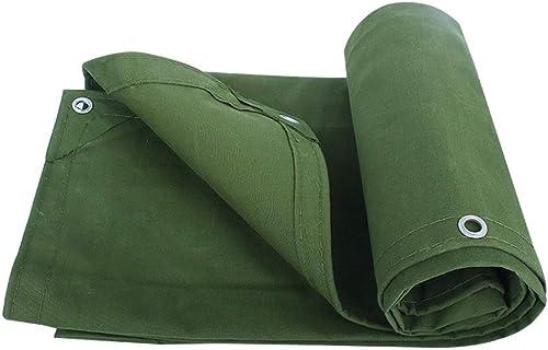 Baches ZXMEI Robuste avec Perforations for Mobilier De Jardin, Voiture, Camping Ou Jardinage (Vert) (Taille   6x6m)
