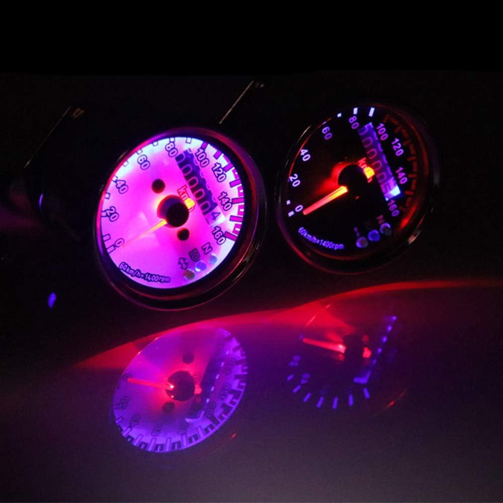 Fastpro Compteur de vitesse universel pour la plupart des mod/èles de moto de 12 V CC.