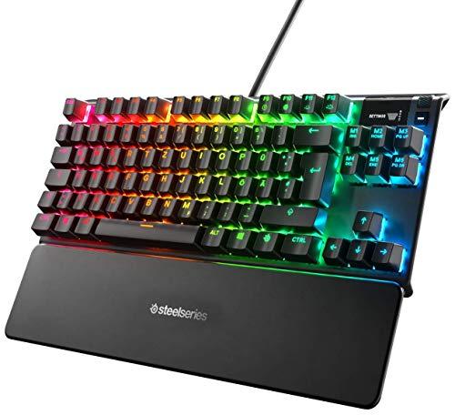 SteelSeries Apex Pro TKL – Mechanische Gaming-Tastatur mit anpassbarer Betätigung – OLED Smart Display – Deutsches QWERTZ - Kompakt -Layout