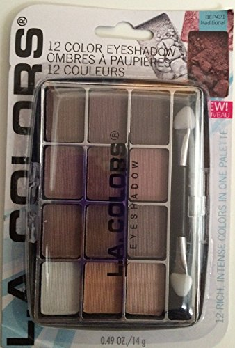 L.a. Colors Expressions - 12 Color Eyeshadow Traditional