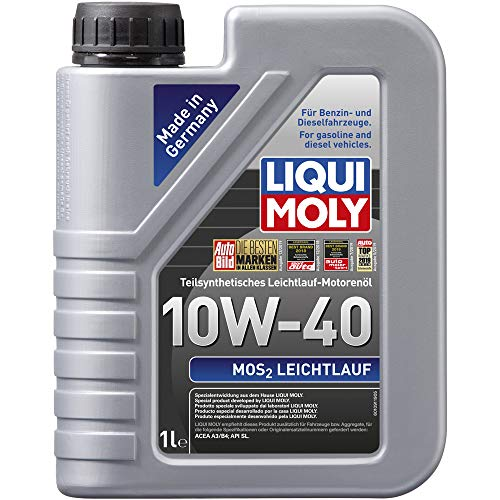 Liqui Moly 2626 - Aceite de motor, MoS2 Leichtlauf, 10W-40, Booklet, 1 l