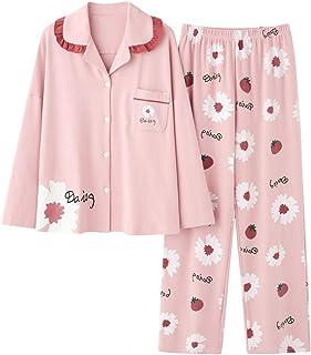 Pijama Mujer Primavera Pijamas De Mujer Conjunto De Pijama De Manga Larga Lindo De Primavera Y Otoño El Cárdigan De Mujer Se Puede Combinar con Solapas