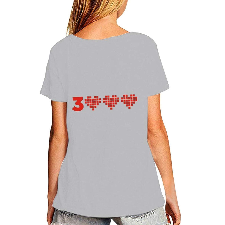 Shusuen Unisex Lovers' Loose Tops Blouse Casual Short Sleeve T Shirt I Love You 3000 Couple wear