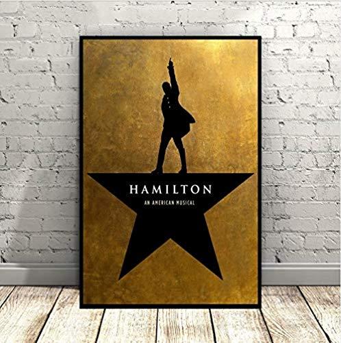 VGSD® Plakat Hamilton EIN Amerikanisches Musikplakat Broadway Werbemusik Kunst Seidenplakate Wandbilder Für Wohnzimmer Kein Rahmen 40X60Cm Ohne Farme