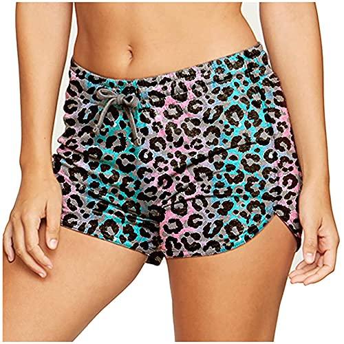 ArcherWlh Pantalones De Yoga,Imprimir Pantalones Cortos de Yoga Pantalones Deportivos Pan Apretado Pantalones Calientes-Leopardo_L