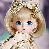1/6 BJD Doll SD Doll Full Set 10.23 Pulgadas 26cm Bola articulada DIY Doll Modelo de Juguete con Zapatos de Vestuario Peluca Maquillaje, niñas